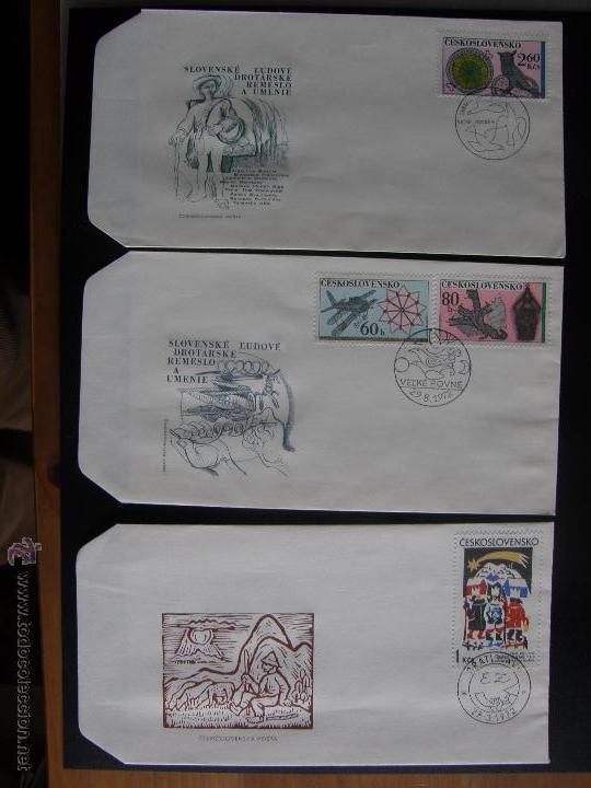 Sellos: Checoslovaquia. Lote de más de 200 sobres primer día, entero postales, tarjetas postales, etc. - Foto 70 - 52953992