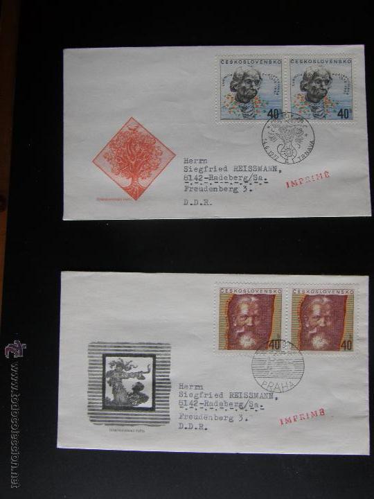 Sellos: Checoslovaquia. Lote de más de 200 sobres primer día, entero postales, tarjetas postales, etc. - Foto 71 - 52953992