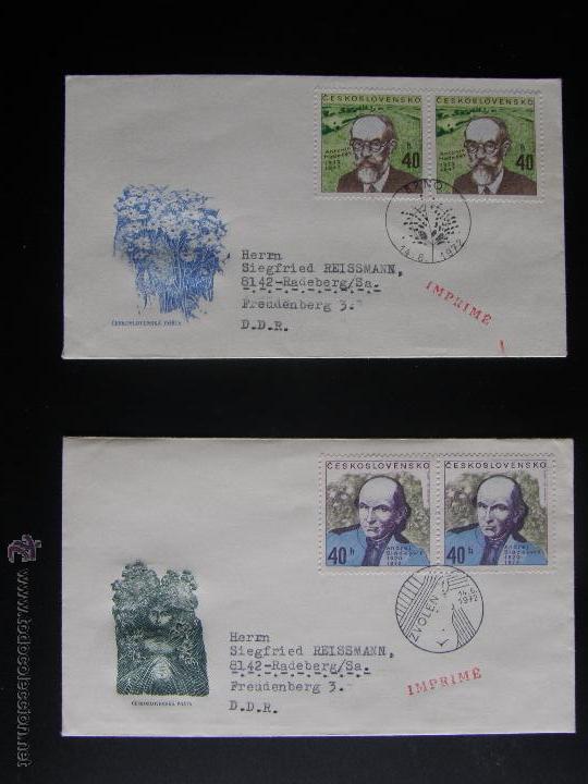 Sellos: Checoslovaquia. Lote de más de 200 sobres primer día, entero postales, tarjetas postales, etc. - Foto 73 - 52953992