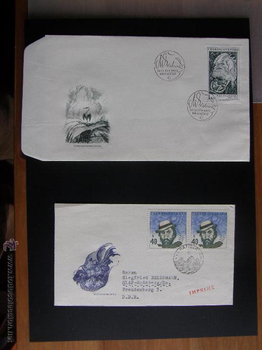 Sellos: Checoslovaquia. Lote de más de 200 sobres primer día, entero postales, tarjetas postales, etc. - Foto 74 - 52953992