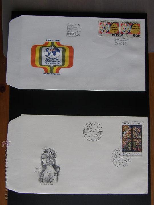 Sellos: Checoslovaquia. Lote de más de 200 sobres primer día, entero postales, tarjetas postales, etc. - Foto 79 - 52953992
