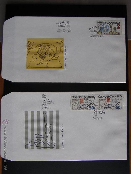 Sellos: Checoslovaquia. Lote de más de 200 sobres primer día, entero postales, tarjetas postales, etc. - Foto 80 - 52953992