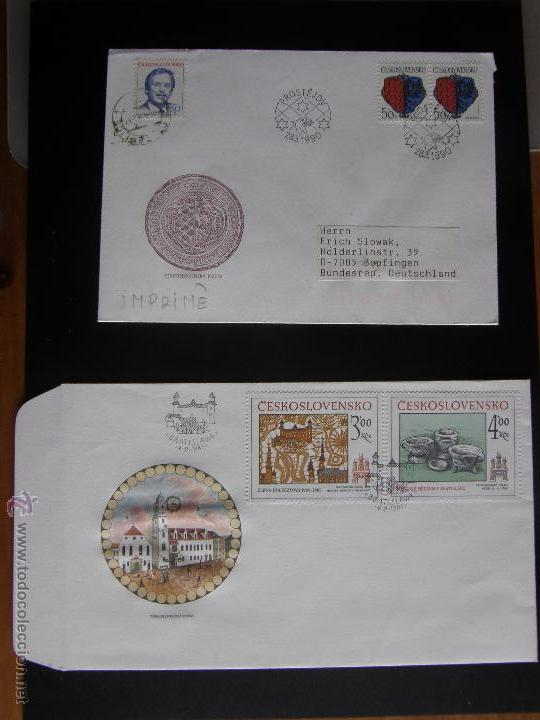 Sellos: Checoslovaquia. Lote de más de 200 sobres primer día, entero postales, tarjetas postales, etc. - Foto 81 - 52953992