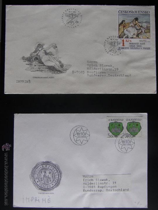 Sellos: Checoslovaquia. Lote de más de 200 sobres primer día, entero postales, tarjetas postales, etc. - Foto 83 - 52953992