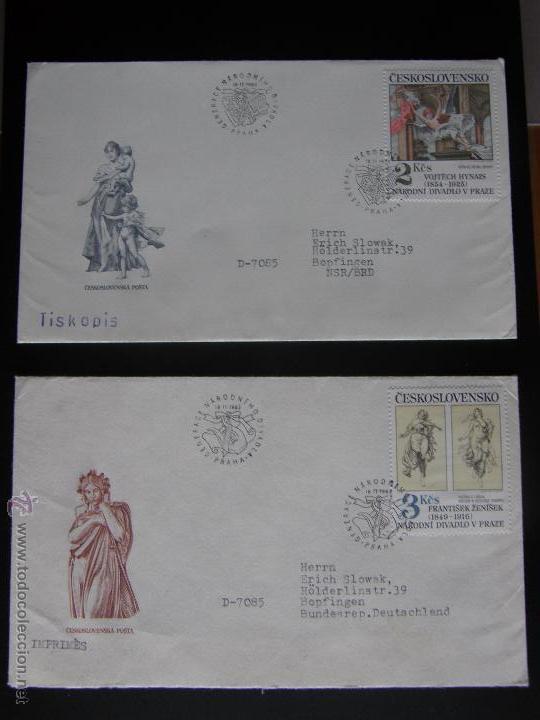 Sellos: Checoslovaquia. Lote de más de 200 sobres primer día, entero postales, tarjetas postales, etc. - Foto 85 - 52953992