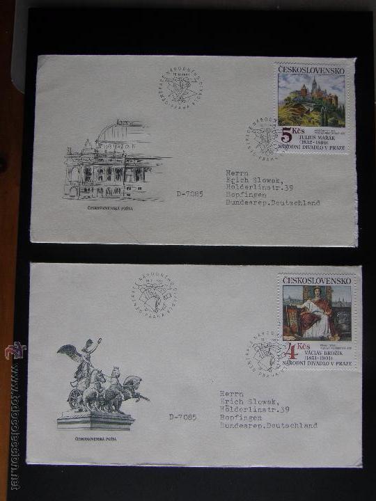 Sellos: Checoslovaquia. Lote de más de 200 sobres primer día, entero postales, tarjetas postales, etc. - Foto 87 - 52953992