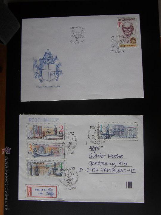 Sellos: Checoslovaquia. Lote de más de 200 sobres primer día, entero postales, tarjetas postales, etc. - Foto 88 - 52953992