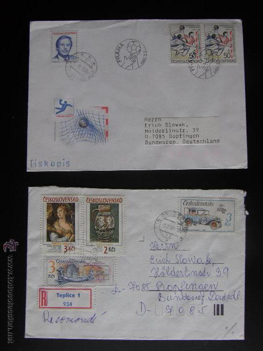 Sellos: Checoslovaquia. Lote de más de 200 sobres primer día, entero postales, tarjetas postales, etc. - Foto 90 - 52953992