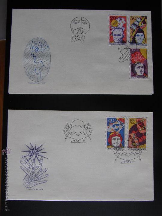 Sellos: Checoslovaquia. Lote de más de 200 sobres primer día, entero postales, tarjetas postales, etc. - Foto 96 - 52953992