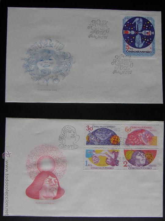 Sellos: Checoslovaquia. Lote de más de 200 sobres primer día, entero postales, tarjetas postales, etc. - Foto 97 - 52953992