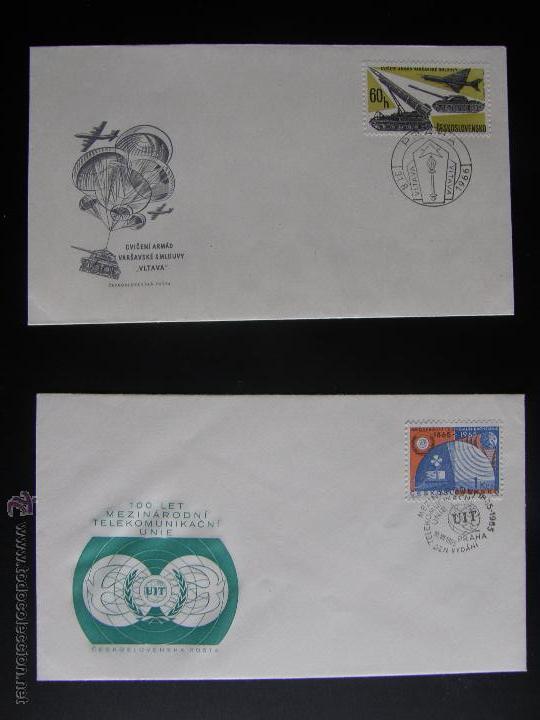 Sellos: Checoslovaquia. Lote de más de 200 sobres primer día, entero postales, tarjetas postales, etc. - Foto 104 - 52953992