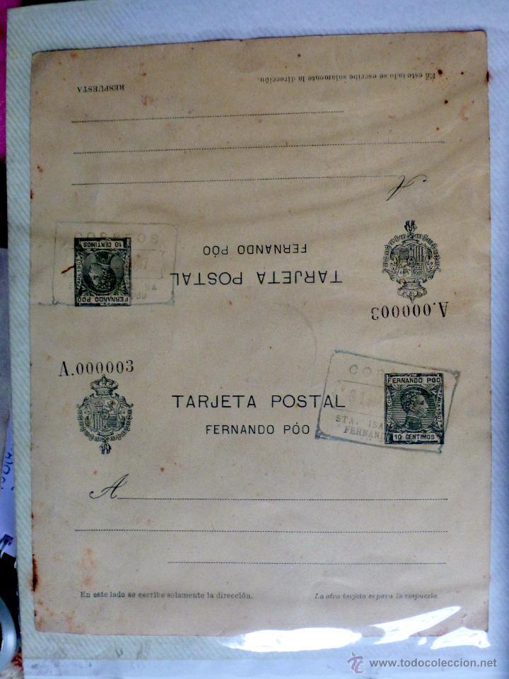ENTERO POSTAL DOBLE ALFONSO XIII TIPO CADETE 1907 (Sellos - Extranjero - Entero postales)