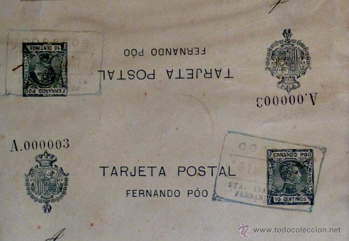 Sellos: entero postal doble Alfonso XIII tipo cadete 1907 - Foto 2 - 53834824