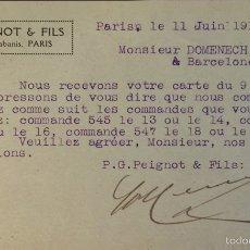 Sellos: ENTERO POSTAL FRANCIA, CIRCULADO 1914 CON SOBREIMPRESIÓN PRIVADA. Lote 56401914