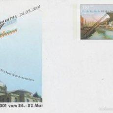 Sellos: ALEMANIA, CENTENARIO DEL TRANSBORDADOR DE SCHWEBEBANH (24-5-2001) EN ENTERO POSTAL. Lote 213541852