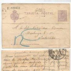 Sellos: TARJETA POSTAL .ALFONSO XIII.15CTS. MADRID. ABR22. Lote 59050835