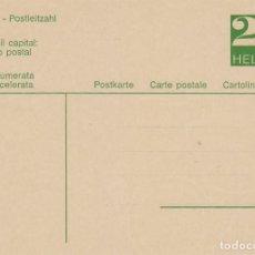 Suiza, Un consejo capital, el numero postal, entero postal sin usar