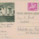 Sellos: SUIZA, CASA EXPOSICION DE GOETHE EN DORNACH, ENTERO POSTAL CIRCULADO EL 6-1-1962. Lote 61421431