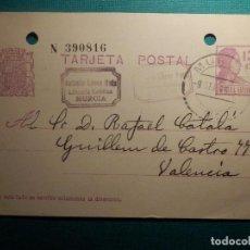 Sellos: ENTERO POSTAL - II REPÚBLICA - TIPO MATRONA - 1932 - 15 CTS. VIOLETA - EDIFIL 69 - CIRCULADA EN 1933. Lote 68851865