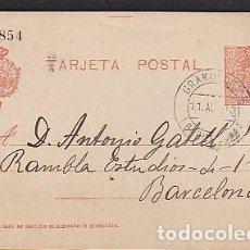 Sellos: ENTERO POSTAL 10 CTS. CIRCULADO DESDE GRANOLLERS A BARCELONA . Lote 70550285