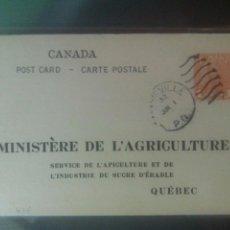 Sellos: CANADÁ QUEBEC MINISTERE DE L'AGRICULTURE ENTERO POSTAL AGRICULTURA AZÚCAR. Lote 72707806