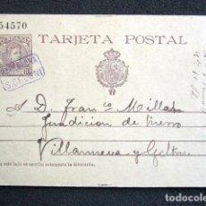 Sellos: AÑO 1902. ENTERO POSTAL, EDIFIL Nº17 CON CARTERÍA BARCELONA S. CELONI. Lote 76581435