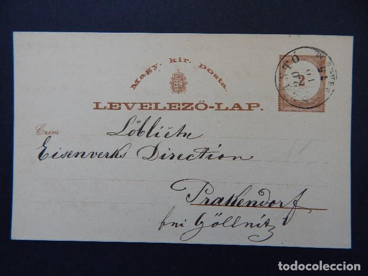 LEVELEZÖ-LAP. MAGY. KIR. POSTA - 20. 10. 1875 (Sellos - Extranjero - Entero postales)