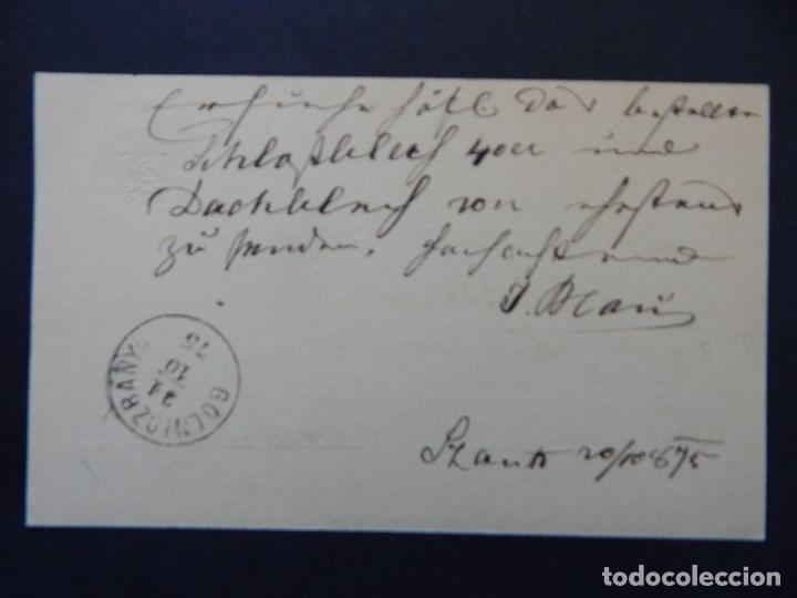 Sellos: Levelezö-Lap. Magy. kir. posta - 20. 10. 1875 - Foto 2 - 79002389
