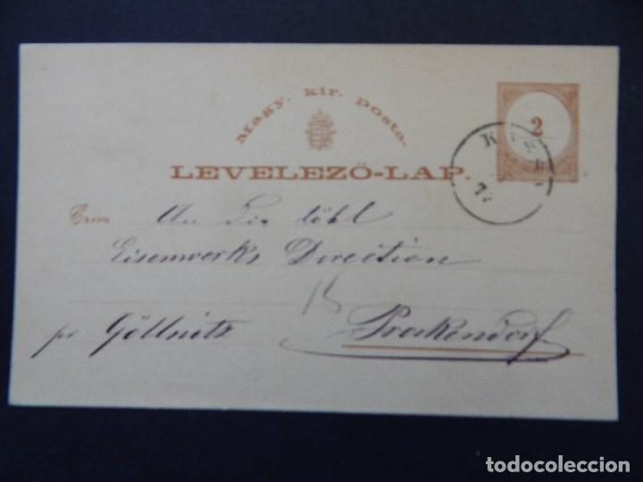 LEVELEZÖ-LAP. MAGY. KIR. POSTA - 2 11 1875 - FLEISCHER & SCHIRGER KASCHAU (Sellos - Extranjero - Entero postales)
