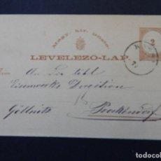 Sellos: LEVELEZÖ-LAP. MAGY. KIR. POSTA - 2 11 1875 - FLEISCHER & SCHIRGER KASCHAU. Lote 79003453