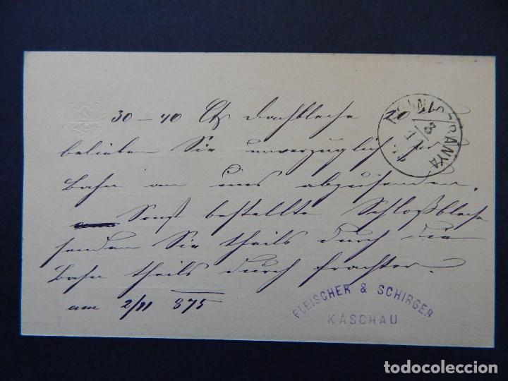 Sellos: Levelezö-Lap. Magy. kir. posta - 2 11 1875 - Fleischer & Schirger Kaschau - Foto 2 - 79003453
