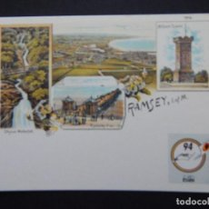 Sellos: ISLA DE MAN, DOUGLAS 5 MAYO 1994 - RAMSEY - TO COMMEMORATE THE CENTENARY OF THE PICTURE POSTCARD .... Lote 82622416