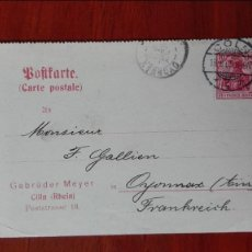 Sellos: ALEMANIA ENTEROPOSTAL 1905 COLN RHEIN. Lote 89420436