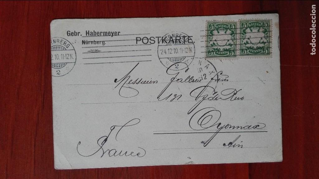 ALEMANIA ENTEROPOSTAL 1910 NUREMBERG (Sellos - Extranjero - Entero postales)