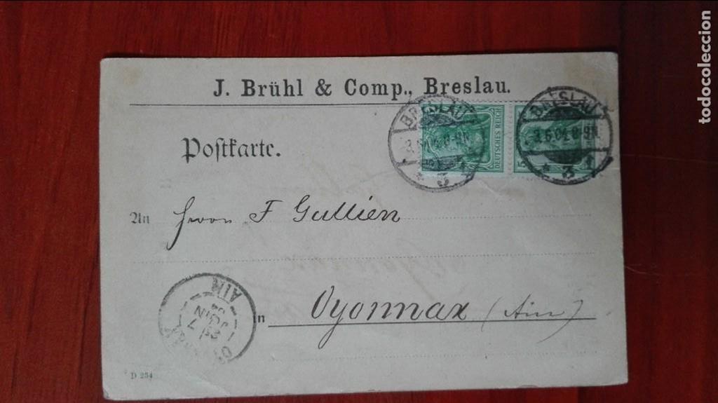 ALEMANIA ENTEROPOSTAL 1904 (Sellos - Extranjero - Entero postales)