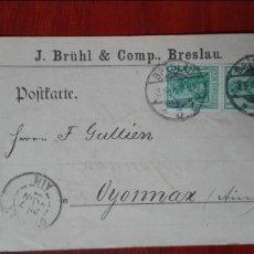 Sellos: ALEMANIA ENTEROPOSTAL 1904. Lote 89420952