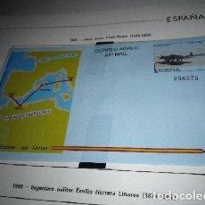 Sellos: AEROGRAMA ESPAÑA 1989.AVIATION.LINEA AEREA CADIZ/ MELILLA. Lote 98719431