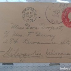 Sellos: CARTA CIRCULADA EN EEUU WISCONSIN 1906. Lote 102576423