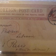 Sellos: FOREING POST CARD 1878. Lote 102574715