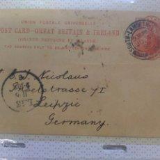 Sellos: ENTERO POSTAL DIRIJIDO ALEMANIA 1899. Lote 102574931