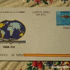 Sellos: AEROGRAMA AVIÓN CASA - 212 1983. Lote 115101503