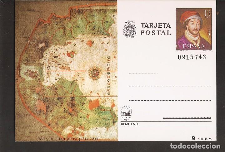 TARJETA POSTAL- CARTA DE JUAN DE LA COSA - LA DE LA FOTO VER TODAS MIS TARJETAS Y POSTALES (Sellos - Extranjero - Entero postales)