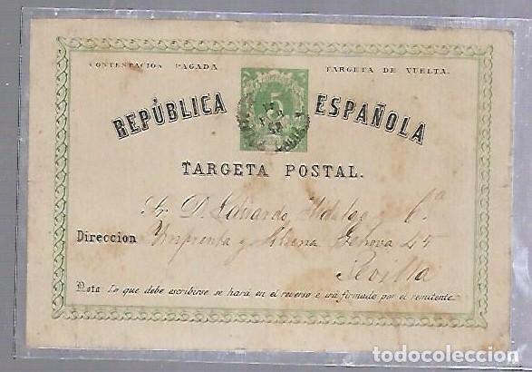 ENTERO POSTAL. 1875. REPUBLICA ESPAÑOLA. PUERTO DE SANTA MARIA, CADIZ. (Sellos - Extranjero - Entero postales)