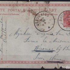 Sellos: BELGICA 1920 ~ REY ALBERTO I ~ CIRCULADO. Lote 129433779