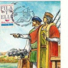 Sellos: POSTAL DE ITALIA, GENOVA´92, CRISTOBAL COLON.. Lote 133642446