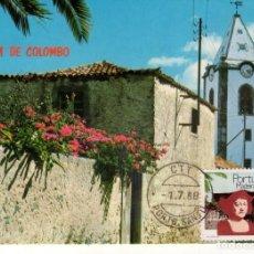 Sellos: POSTAL DE PORTUGAL, CASA DE CRISTOBAL COLON EN PORTO SANTO (MADEIRA). CRISTOBAL COLON.. Lote 133651018