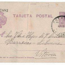 Sellos: GUERNICA A VITORIA. FECHADOR GUERNICA 26.2.25. AL DORSO RODILLO LLEGADA. VIZCAYA BIZKAIA GERNIKA. Lote 142443826