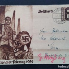 Sellos: ENTERO POSTAL ALEMANIA TERCER REICH 1934 ESVÁSTICA. Lote 147300978