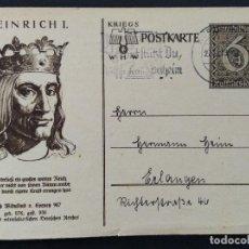 Sellos: ENTERO POSTAL ALEMANIA TERCER REICH 1939. Lote 147301994