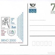 Sellos: REP. CHECA/CZECH REPUBLIC. ENTERO POSTAL/STATIONERY. EXP. FILAT. BRNO 2000. PHILATELIC EXHIBITION.. Lote 147552962